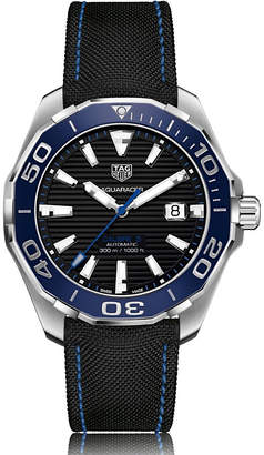 Tag Heuer WAY201C.FC6395 aquaracer automatic stainless steel and fabric strap watch