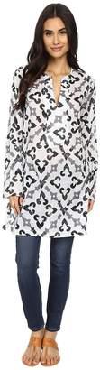 Echo Tropic Medallion Dorothy Tunic Women's Short Sleeve Pullover
