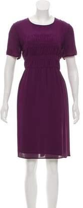 Burberry Silk Knee-Length Dress