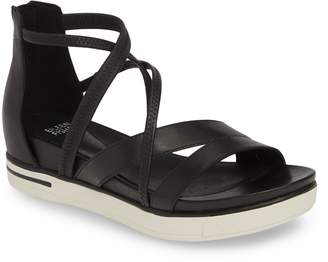 a95e6ec8afc3 Eileen Fisher Black Platform Women s Sandals - ShopStyle