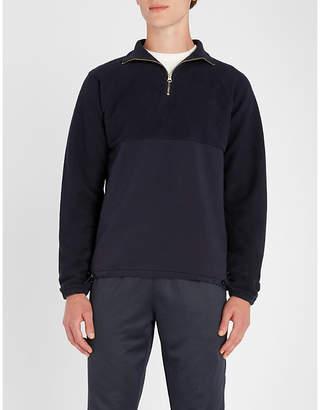 LES BASICS Le Zip cotton-jersey sweatshirt