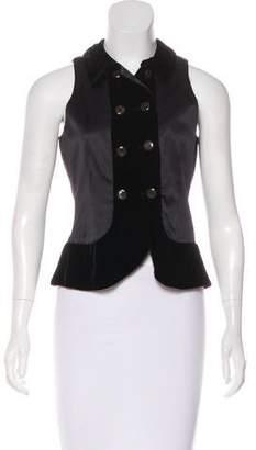 Armani Collezioni Velvet-Accented Vest