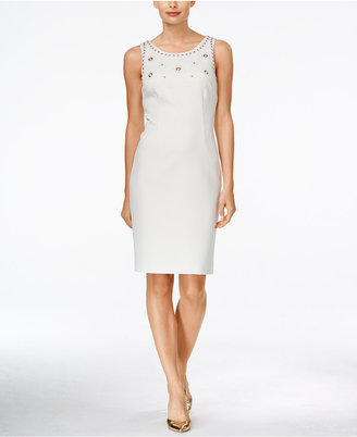 Ivanka Trump Studded Sheath Dress $138 thestylecure.com