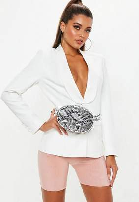 Missguided White Skinny Tux
