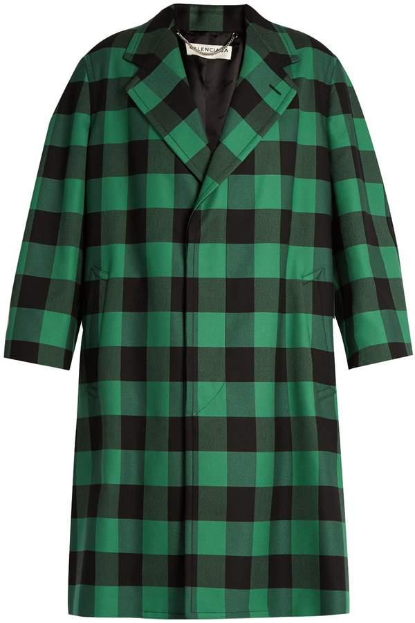 Balenciaga BALENCIAGA Godfather checked oversized coat