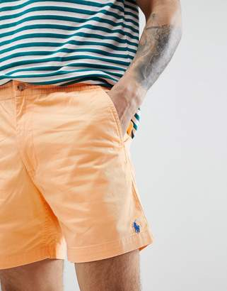 Polo Ralph Lauren Prepster Drawstring Chino Shorts In Orange