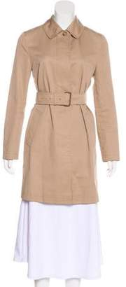 Burberry Single-Breasted Knee-Length Coat