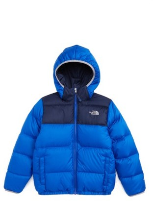 Boy's The North Face 'Moondoggy' Water Repellent Reversible Down Jacket $149 thestylecure.com