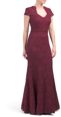 All Over Lace Long Gown