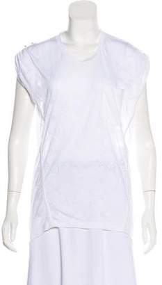 Balenciaga Devoré Jersey Top