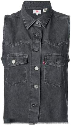 Levi's sleeveless denim jacket