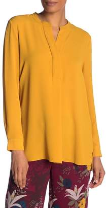 Vince Camuto Soft Texture Henley Blouse