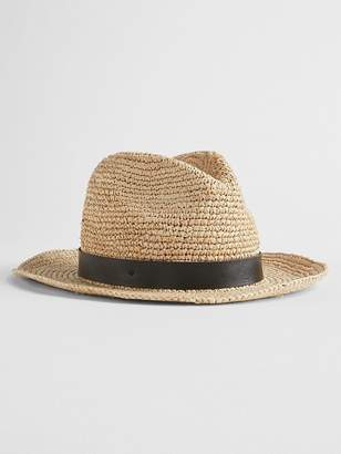 Gap Packable Straw Fedora