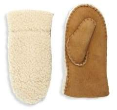 UGG Kid's Exposed Curly Pile Shearling Mittens