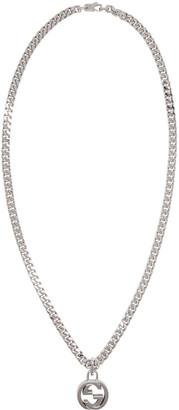 Gucci Silver GG Necklace $570 thestylecure.com