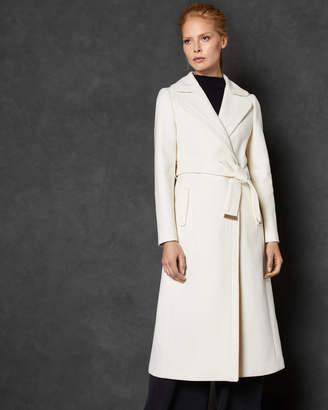 Ted Baker GABELLA Wide collar long wool wrap coat