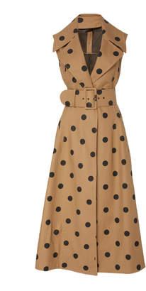 Oscar de la Renta Polka Dot Day Dress