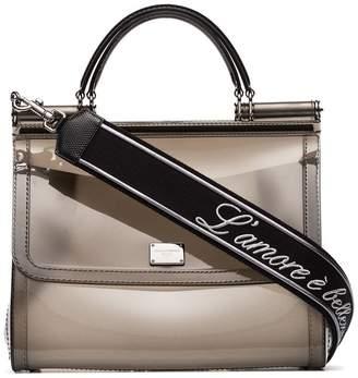 f22430d70708 at Farfetch · Dolce   Gabbana Sicily Transparent Shoulder Bag