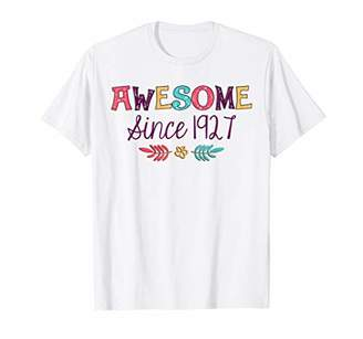 Awesome Since 1927 T-Shirt 92nd Birthday Gift Shirt