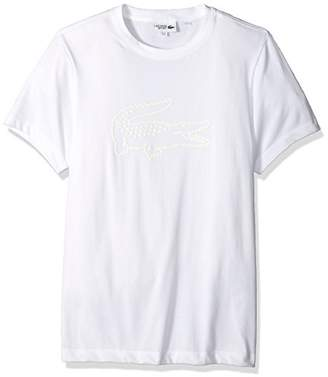 Lacoste Men's Short Sleeve Jersey Tech with Graphic Croc Logo T-Shirt