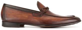 Magnanni woven trim loafers