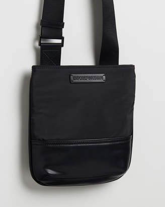 Emporio Armani Small Flat Messenger Bag