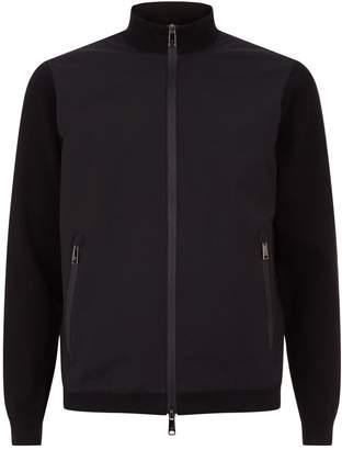 Emporio Armani Knitted Hybrid Bomber Jacket