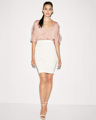 Express High Waisted Fitted Pencil Skirt