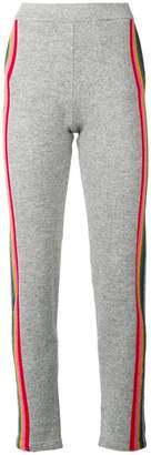 Allude side stripe track trousers