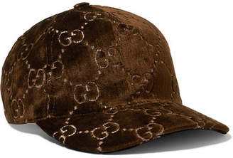 Gucci Metallic Velvet-jacquard Baseball Cap - Brown
