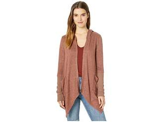 Miss Me Thriving Hooded Drape Cardigan
