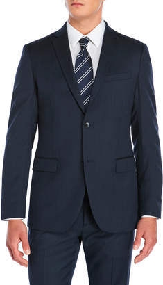 American Designer Navy Wool Suit Jacket