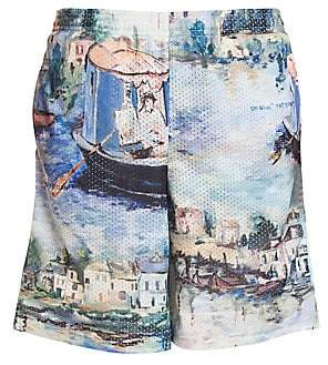 Off-White Men's Lake Mesh Swim Trunks