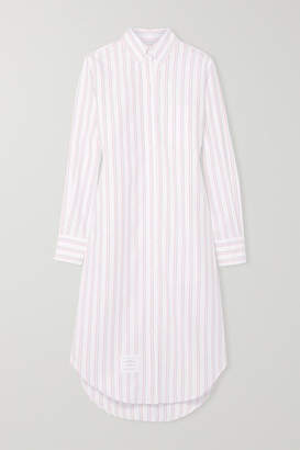 Thom Browne Striped Cotton Oxford Dress - White