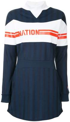P.E Nation Stroker Ace striped dress