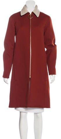 CelineCéline Virgin Wool Knee-Length Coat