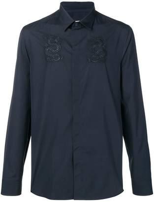 Kenzo dragon embroidered shirt