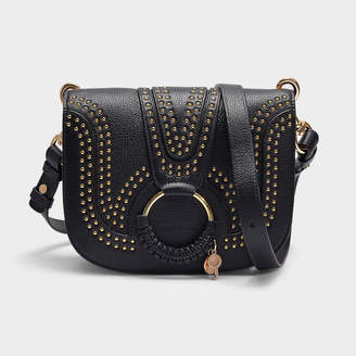 47d04b411 See by Chloe Hana Small Crossbody Bag With Studs In Black Grained Leather