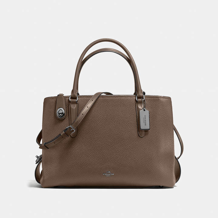 Coach   COACH Coach Brooklyn Carryall 34 In Pebble Leather