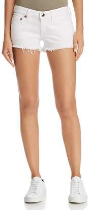 True Religion Joey Cutoff Denim Shorts in Optic White