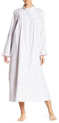 Eileen West Sleepwear Long Sleeve Printed Ballet Nightgown