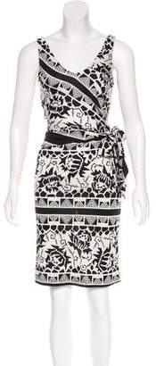 Nicole Miller Sleeveless Silk Dress