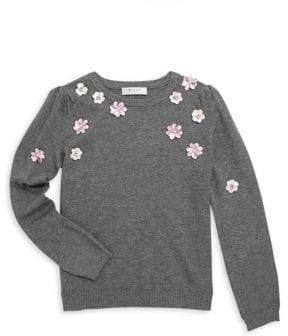 Milly Minis Little Girl's Long-Sleeve Beaded Pullover