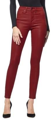 Good American Good Waist Coated High Waist Skinny Jeans