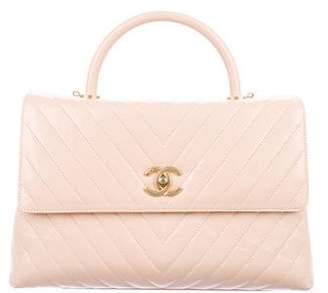 Chanel 2018 Chevron Large Coco Handle Bag