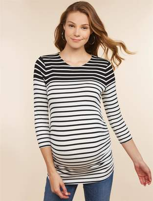Jessica Simpson Motherhood Maternity Side Ruched Maternity Top