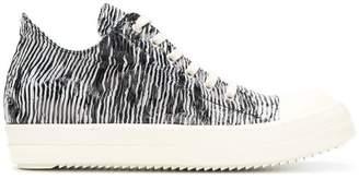 Rick Owens zebra print sneakers