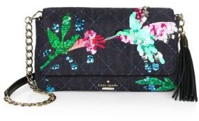 Kate Spade Kate Spade New York Emerson Place Hummingbird Serena Quilted Shoulder Bag