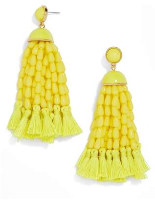 BaubleBar Margarita Beaded Tassel Earrings
