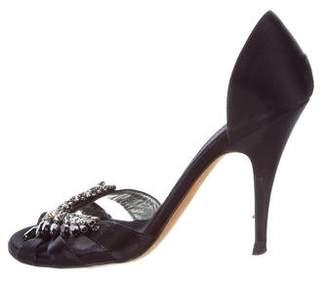 Giuseppe Zanotti Jewel-Embellished Satin Sandals